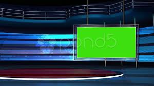 Green Tv by Video News Tv Studio Set 25 Virtual Green Screen Background