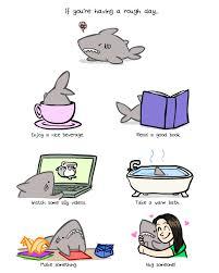 if you u0027re having a rough day dobrador cartoon gifs sharks