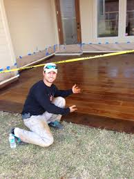Patio Paint Concrete by How To Paint Concrete To Look Like Wood Stained Concrete Wood