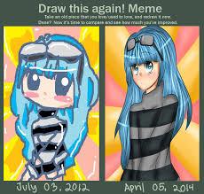 Anime Girl Meme - draw this again meme random anime girl 2 by nekonam on deviantart
