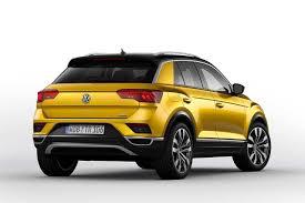 volkswagen yellow 2017 volkswagen t roc curcuma yellow metallic rear studio autobics