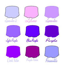 different colors of purple colors