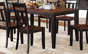 homelegance westport dining table two tone black cherry 5079bk