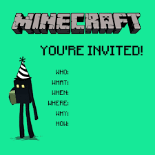 Cheap Birthday Invitation Cards Minecraft Birthday Party Printables Crafts And Games