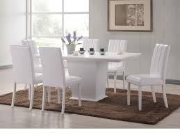 White Faux Leather Chair Furniture Beautiful White Faux Leather Dining Chairs And Table