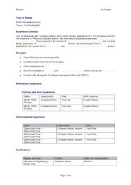 Best Resume Format For Fresher Software Engineers by Sample Resume Software Developer Fresher
