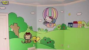 how to paint a hello kitty dream room mural youtube how to paint a hello kitty dream room mural