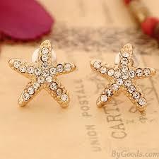 sweet earrings sweet starfish earrings fashion earrings jewelry bygoods