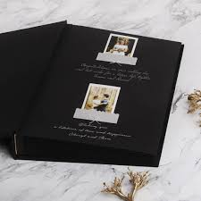 photo album with black pages guest book sign in book instant album black with gold lettering