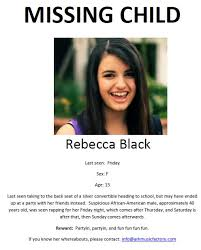 Rebecca Black Friday Meme - rebecca black friday meme time page 10 barf bay area