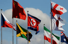 South Korea Flag North Korean Athletes Arrive In South Korea For Olympics Krcr