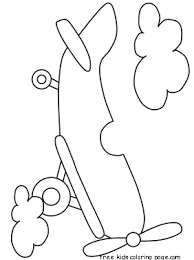 printable propeller airplane coloring pages kidfree printable