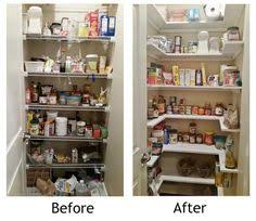 pantry ideas for small kitchens kitchen pantry makeover replace wire shelves with wrap around