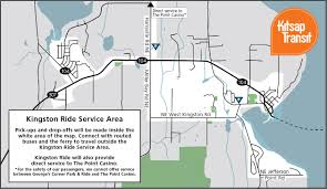 Washington State Ferries Map by Kingston Ride Kitsap Transit