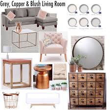 grey blush u0026 copper living room new home pinterest living
