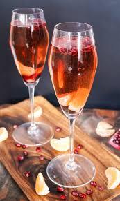 pomegranate u0026 clementine champagne cocktails