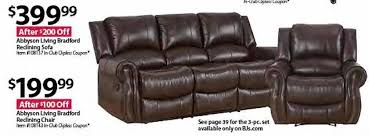 abbyson living bradford faux leather reclining sofa bjs wholesale black friday abbyson living bradford reclining sofa