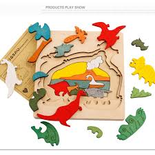 wooden jigsaw puzzle 3d pieces baby animals story