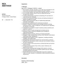 Manager Resume Template It Manager Resume Sample Velvet Jobs