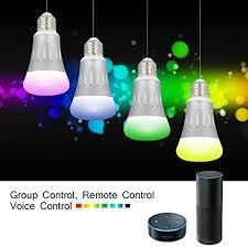 light bulbs that work with amazon echo led bulbs pubmind smart wifi led light bulbs 7w 600lumen 6000k