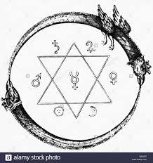alchemy symbols annulus platonis seal of solomon copper stock