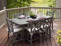 Wood And Metal Patio Furniture - patio 5 polywood dining sets outdoor poly wood patio