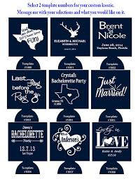 personalized wedding koozies winter wedding koozies fashion dresses