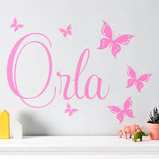 personalised wall stickers custom wall stickers personalised erfly wall stickers by parkins interiors notonthehighstreet com