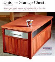 Patio Storage Chest by Outdoor Storage Chest Plans U2022 Woodarchivist