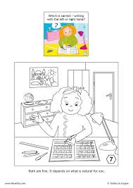 left handed coloring pages hellokids com