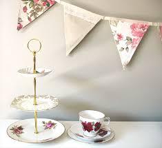 vintage bunting retro pink peach floral shabby chic kitchen tea