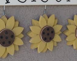sunflowers decorations home ladybug sunflower etsy