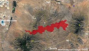 Tucson Arizona Map by Sawmill Fire Causes Evacuations East Of Green Valley Az