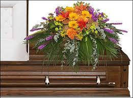 florist augusta ga radiant medley casket spray funeral flowers in augusta ga s