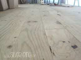 diy plywood floor part one cost install silver and pine