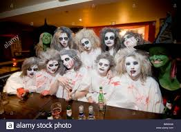 Group Of Aberystwyth University Students In Fancy Dress As Zombies