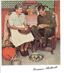 norman rockwell signed autographed soldier home for thanksgiving