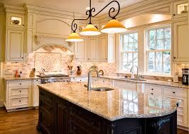 Kitchen Glazed Cabinets Wonderful Glazed Kitchen With Contrasting Island Traditional