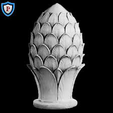 plaster pineapple finial design high end plaster ornaments