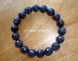 sapphire crystal bracelet images Gem grade faceted blue sapphire bracelet crystal empress feng jpg