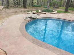 pool concrete deck ideas inground pool concrete ideas pool stamped