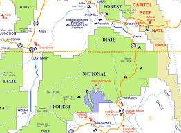 capitol reef national park map capitol reef national park map of utah