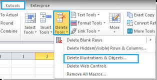 how to quickly delete all text boxes in excel
