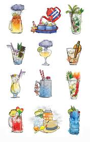 holiday cocktails clipart 1235 best drinks illustrations images on pinterest food