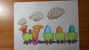 how to draw a train cartoon drawing and coloring for kids youtube