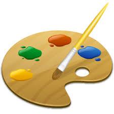logo paint -una tavolozza