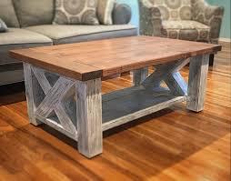farmhouse coffee and end tables diy chunky farmhouse coffee table diy woodworking plans handmade