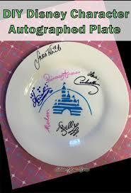 autograph plate disney diy autographed plate