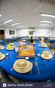 passover seder set israel army base tables set for the traditional passover seder