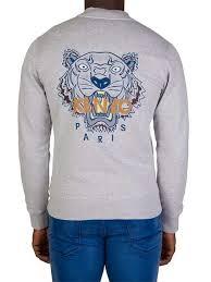 styles kenzo grey tiger bomber jacket for men online sale